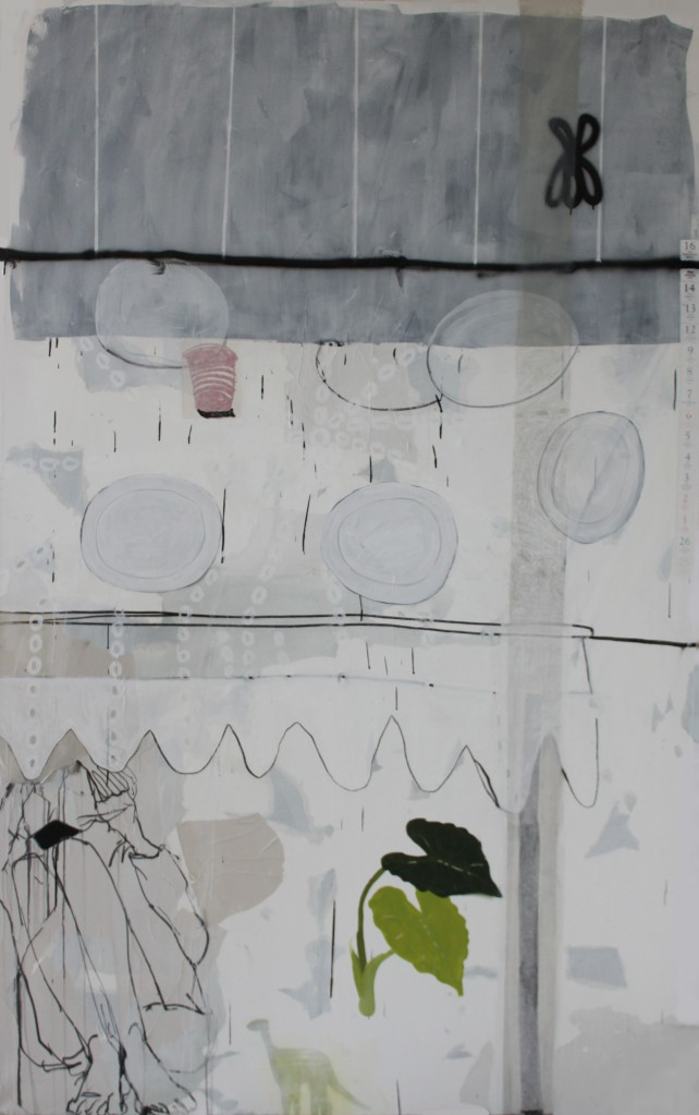 DON'T KNOW, 2012, mixed media on canvas, 240 X 150 cm