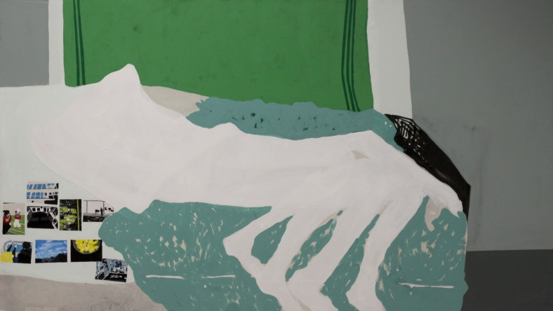 LOW, 2012, mixed media on canvas, 130 X 230 cm