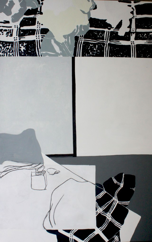 THE BEGINNING, 2012, Mixed media on canvas, 220 X 140 cm