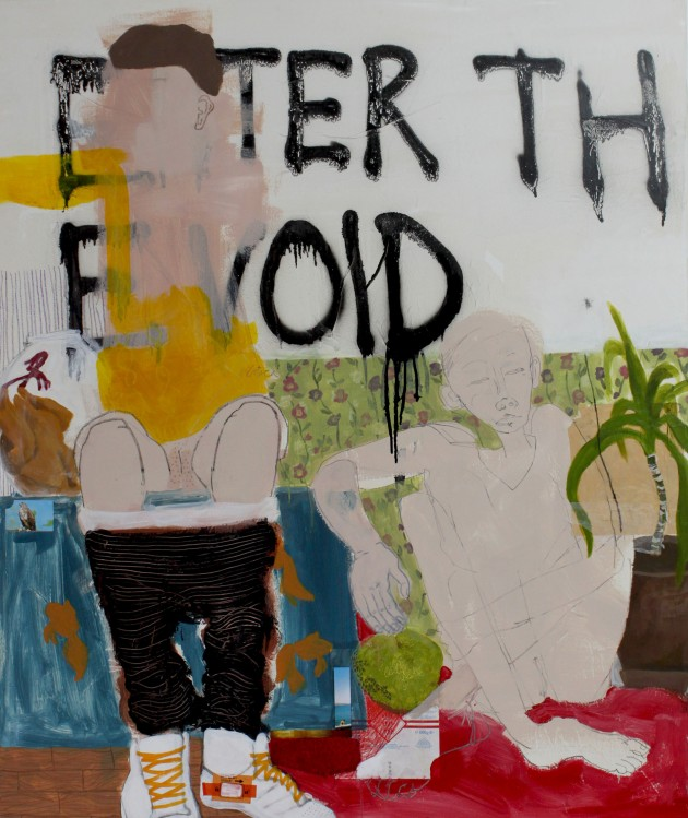 ENTER THE VOID, 2011, mixed media on canvas, 100 X 120 cm