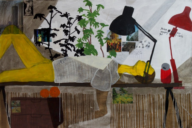 SHADOW, 2011, mixed media on canvas, 100 X 150 cm