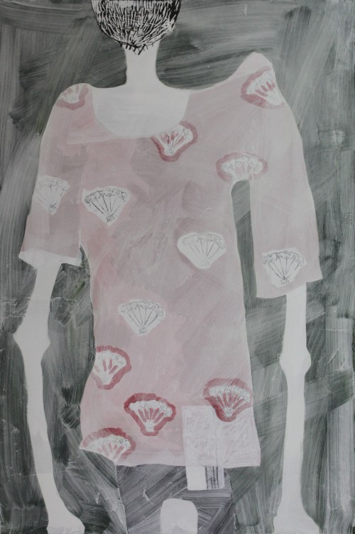 NO TITLE, 2012, mixed media on canvas, 150 X 100 cm