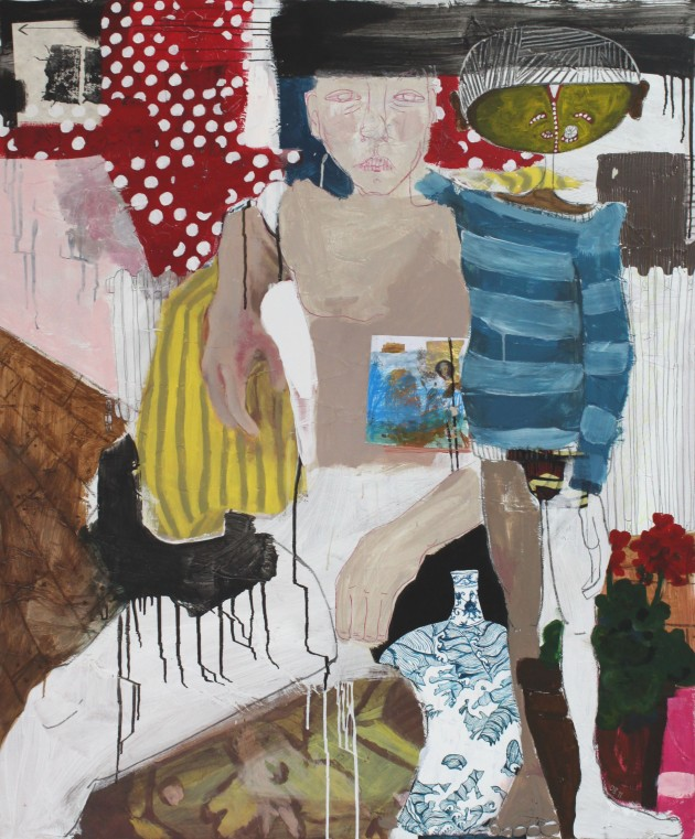 DIARY 1, 2011, mixed media on canvas, 120 X 100 cm
