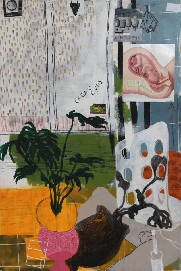 DIARY 3, 2011, mixed media on canvas, 150 X 100 cm