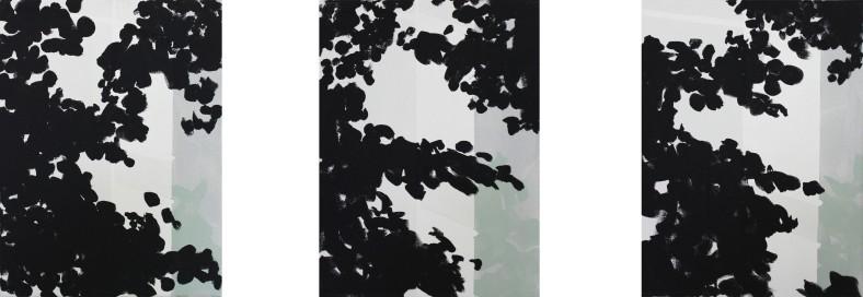 GOING, 2013, acrylic on canvas, triptych, each 40 X 30 cm
