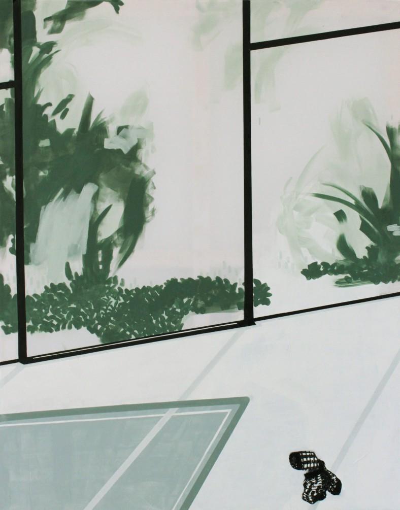 WAITING I, 2013, mixed media on canvas, 190 X 150 cm