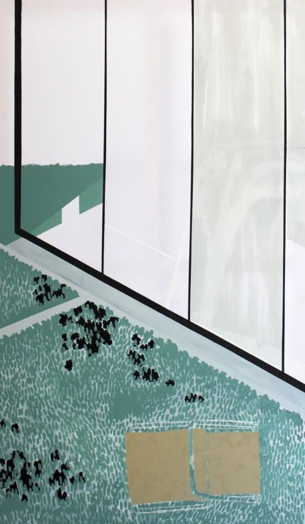 WAITING II, 2013, mixed media on canvas, 240 X 140 cm