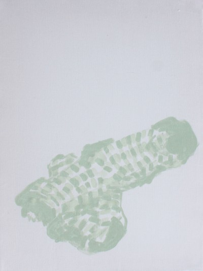 NO TITLE (SOCKS), 2013, acrylic on canvas, 40 X 30 cm