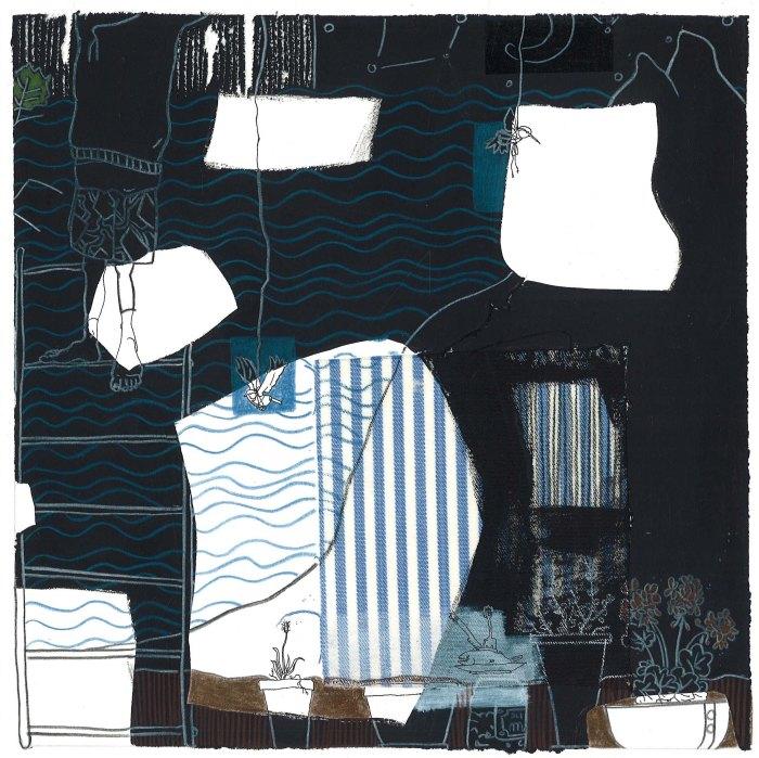 DAY V, 2011, mixed media on paper, 20 X 20 cm