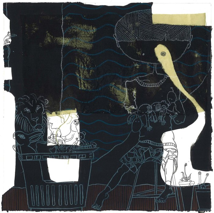 DAY VI, 2011, mixed media on paper, 20 X 20 cm