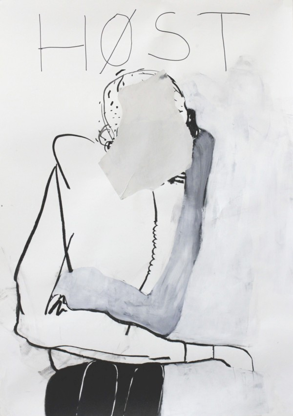 HØST, 2012, mixed media on paper, 100 X 70 cm