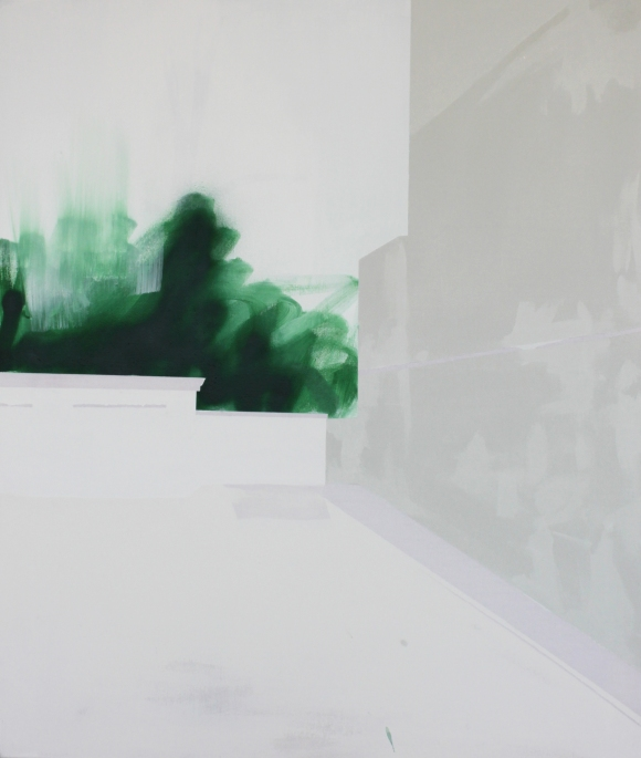 URBANE LANDSCHAFT III,  2014, acrylic and spray paint on canvas,  184 X 170 cm