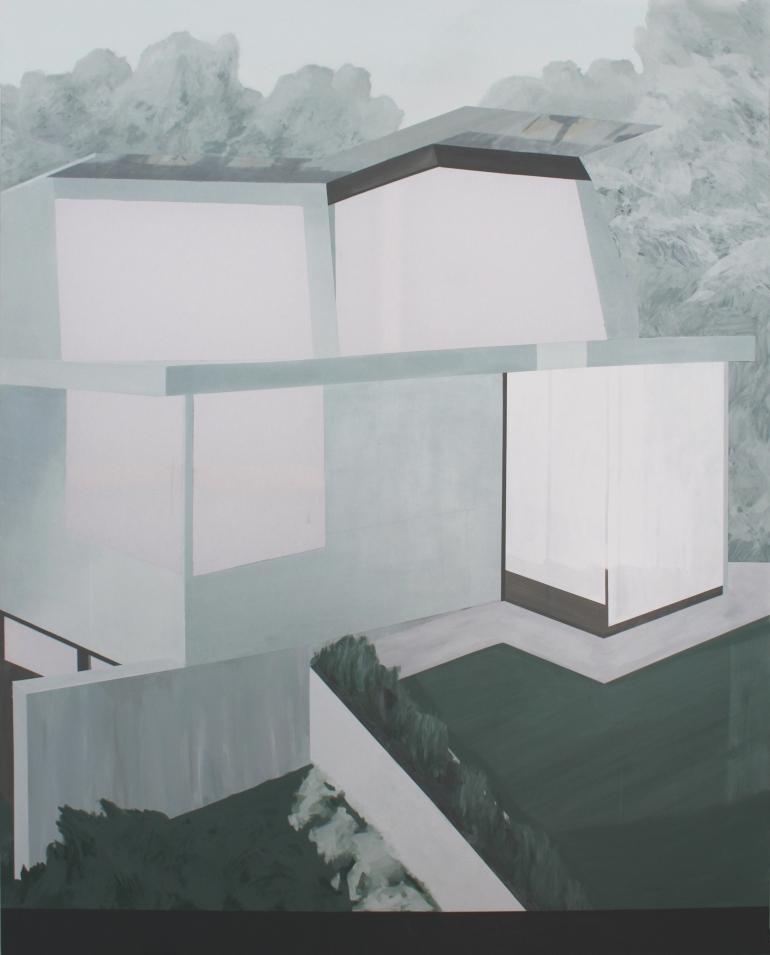 HOUSE I, 2014, acrylic on canvas,  200 X 160 cm