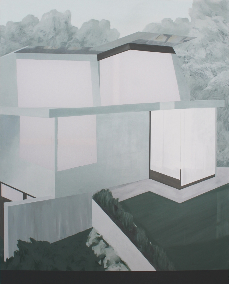 HOUSE I, 2014, acrylic on canvas,  200 X 160 cm