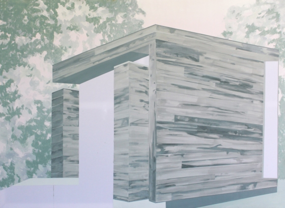 HOUSE III, 2014, acrylic on canvas, 135 X 185 cm
