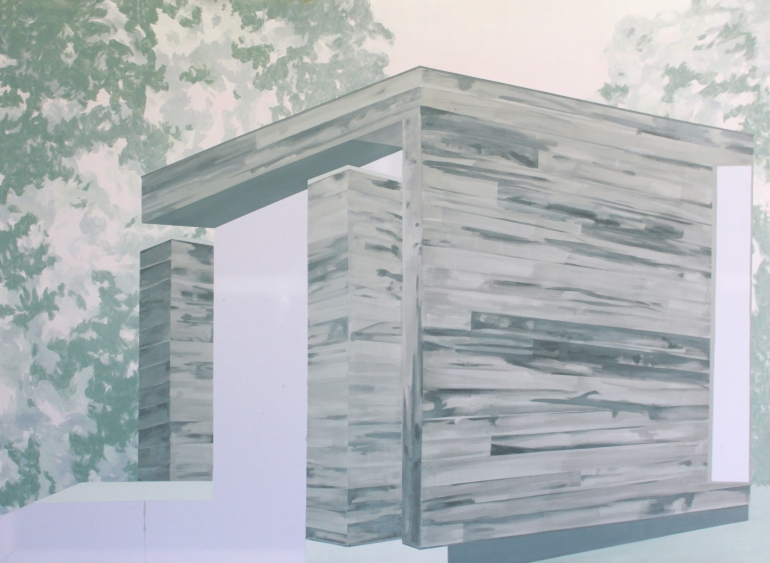 HOUSE III, 2014, acrylic on canvas, 135 X 185 cm